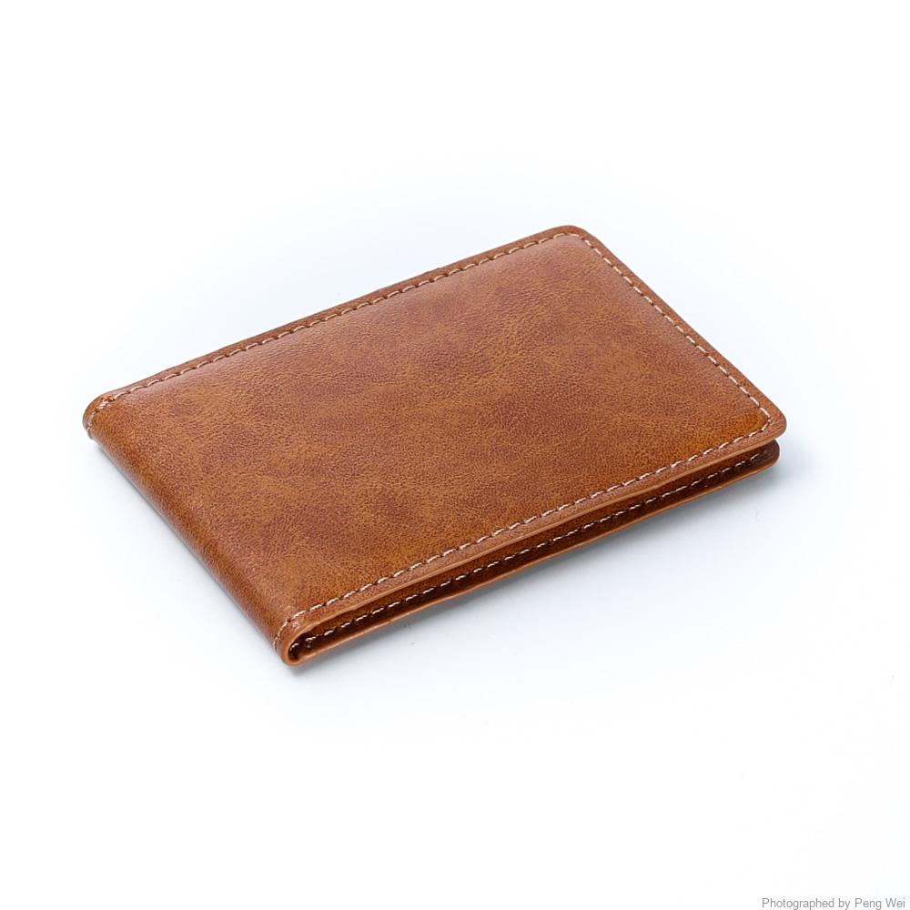 hissimo slim leather wallet credit card case sleeve card